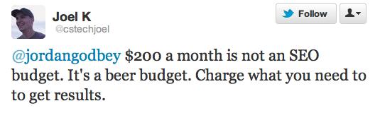 cheap beer budget tweet