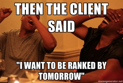 client wants to be #1